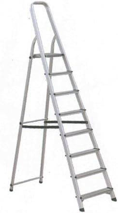 Escalera Aluminio 8P. Hogar En131-150K: Amazon.es: Bricolaje y herramientas