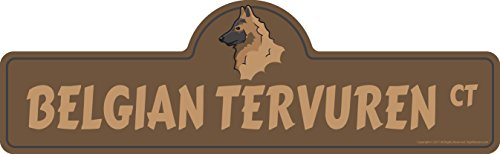 """SignMission Belgian Tervuren Street Sign 