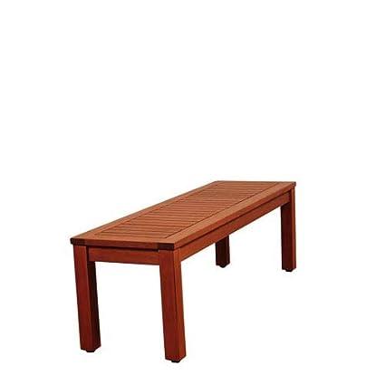 Tremendous Amazon Com Amazonia Eucalyptus Backless Bench Garden Ibusinesslaw Wood Chair Design Ideas Ibusinesslaworg