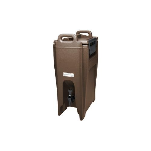 - Cambro UC500131 Ultra Camtainer Beverage Carrier, Insulated Plastic, 5-1/4 Gallon, Dark Brown, NSF
