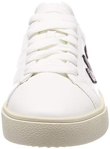 Femme 100 Lu white Heart Esprit Cherry Sneakers Basses Blanc E8xX0q