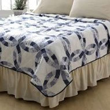 Sarah Blue Wedding Quilt in Blue QUEEN SIZE