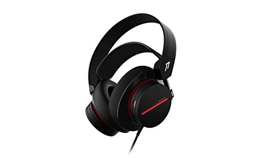 1More H1007 Spearhead gaming headset over-ear met kabel (7.1-surround sound, 54 mm driver, dual microfoon) voor pc, Xbox…