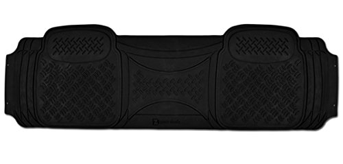 Zento Deals 1 Piece Diamond Black Universal Fit Heavy Duty Rubber Runner Vehicle Floor Mat
