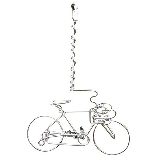 Handmade Valentine Road Bike Decorations Cycling Gifts ~Unique Biking Gift Car Hanger for Cyclists Bikers -ONE WHOLE Wire from Start to End w/No SINGLE BREAK~Vintage Bicycle Ornaments Art Decor