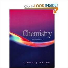Chemistry zumdahl seventh edition.
