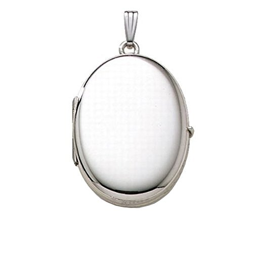 (PicturesOnGold.com Sterling Silver Oval Four Photo Locket 3/4 Inch X 1 1/4 Inch Sterling Silver WITH ENGRAVING)
