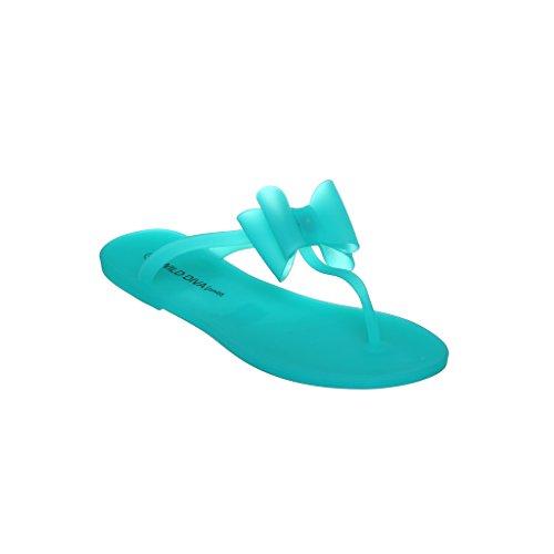 Womens Elegant Summer Style Glitter Jelly Flat Sandals mint61 dBIdaKQI