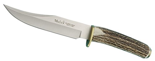 Muela SH-16 Genuine Red Stag Antler Handle Hunting Knife with Leather Sheath
