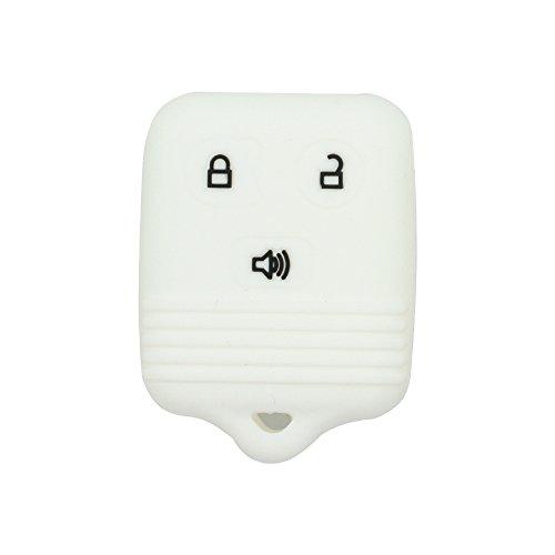 SEGADEN Silicone Cover Protector Case Skin Jacket fit for FORD LINCOLN MAZDA MERCURY 3 Button Remote Key Fobs FCC CWTWB1U345 CWTWB1U331 GQ43VT11T CV2715 White