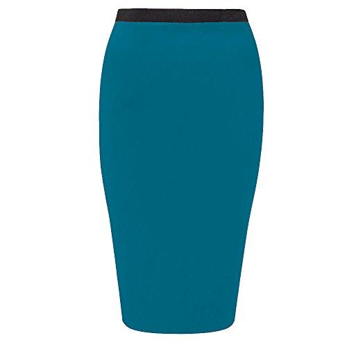 Femme biHo bleu Moulante Jupe sarcelle qwE0nT4OA0