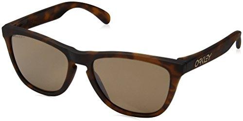 Oakley Tortoise Lens - Oakley Men's OO9013 Frogskins Square Sunglasses, Matte Tortoise/Prizm Tungsten, 55 mm