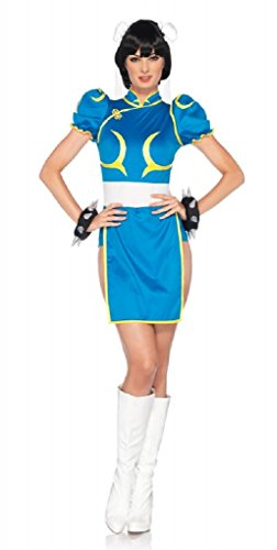 Chun Li Costume Street Fighter (Adult Street Fighter Chun-Li Costume - Small/Meduim 4-8)