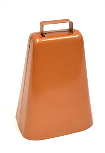 Rodeo Hard Copper Bull Cow Bell - Large 6 ()