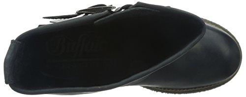 Boots Buffalo London 13980 Biker Women's Beige Washed Leather Black rr1ZY