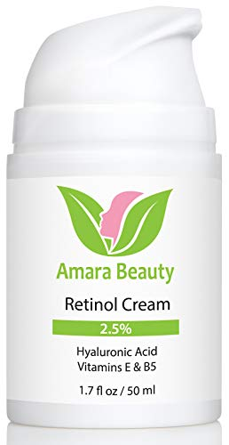 Retinol Cream for Face 2.5% with Hyaluronic Acid & Vitamins E & B5