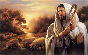 Gatsbe Exchange Oil Painting On Canvas Jesus Christ The Good Shepherd 18 x 28 Unframed