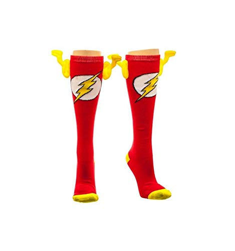 Crazy Halloween Masks (The Flash Wing Socks (Knee High), Sock Size:)