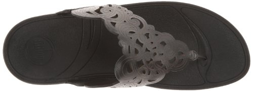 Pictures of FitFlop Women's Flora Black 8 M (B) Black 8 M US 2