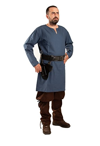 Calvina Costumes Odin Medieval, Viking and LARP Undertunic Made in Turkey, (Male Role Playing Costumes)