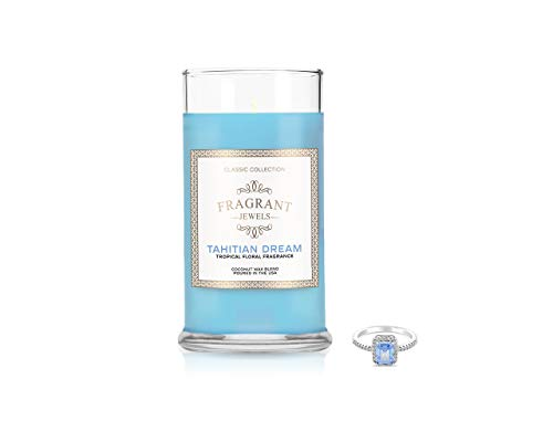 Fragrant Jewels Tahitian Dream Tropical Floral Jewel Candle with Collectible Rings (Size 5-10)