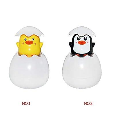 nobrand ebera Baby Bathing Toy Kids Cute Cartoon Animal Bathing Toy Swimming Egg Water Spray Sprinkler Bathroom Sprinkling Shower Swimming Water Toys: Home & Kitchen