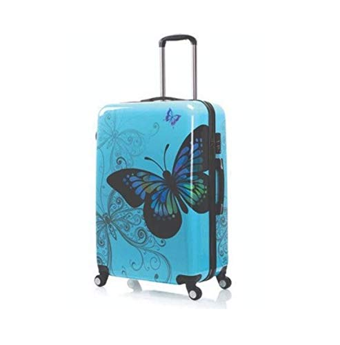Butterfly Print Design Hard Shell 4 Wheel Spinner SUITCASES Trolley Luggage Cabin Travel Set 3 Sizes
