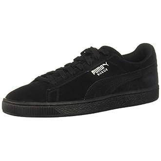 PUMA Suede Classic Sneaker,Black,12 M US Women's/10.5 M US Men's