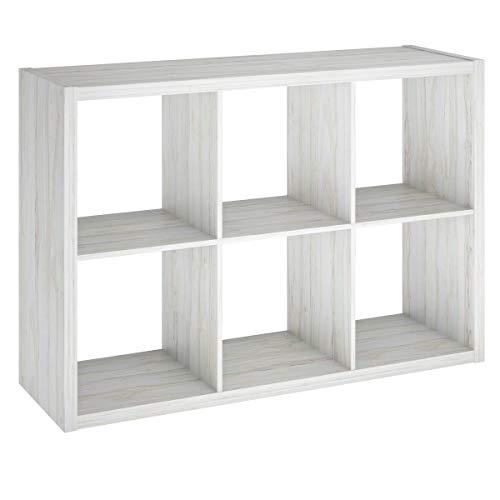 ClosetMaid 4569 Decorative Open Back 6-Cube Storage Organizer, Bleached -