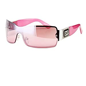 Pink Eyewear Womens Mens Shield Designer Sunglasses Shades Fashion Retro Wrap Usa