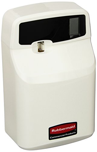 Rubbermaid Commercial FG516900OWHT SeBreeze 9000 Programmable Plus Metered Aerosol Odor Control Dispenser, Off-White ()