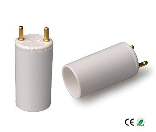 E-Simpo 50-Pack CFL T8 to T5 Fluorescent Tube Side Cap Adapter G13 to G5 Tube Socket Adapter T8-T5 Tube Side Cap Converter, Allow You Install T5 28W CFL into T8 Fixture (L36 for 4ft/1165mm T5 Tube) ()