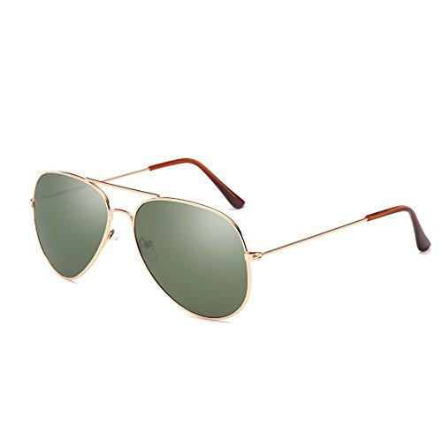 Gafas de gafas cristal masculino de Gafas de de ZHANGYUSEN sol oscuro de sol verde femenino de bronce Visión piloto Conductor Hombre noche gafas Mujer conducir w4qHFYHx5