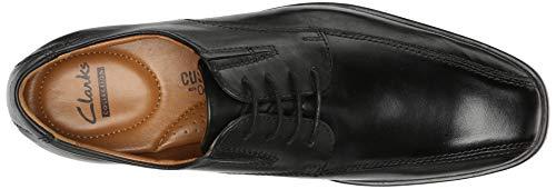 CLARKS Tilden Walk Clarks Men's Oxford, Black Leather, 10.5 M US