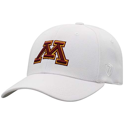 Top of the World Minnesota Golden Gophers Men's Memory Fit Hat Icon, White, One - Wool Gophers Golden Minnesota