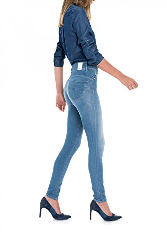 Salsa Skinny Jeans Secret Vita Media A In Azzuro Push ff1rxzR