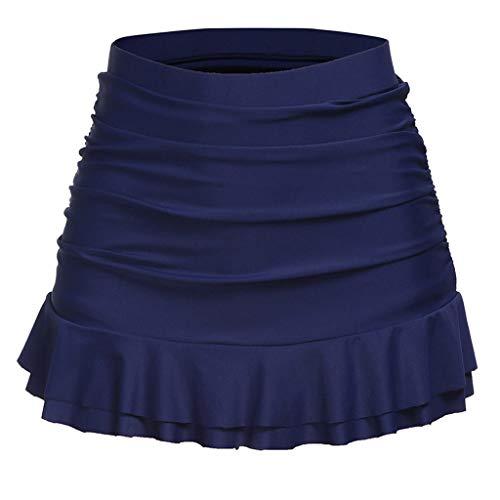 Skirts Women's Swimwear Skirt Bottom High Waisted Bikini Shorts Dress (Navy, S/Waist:25.2-29.1