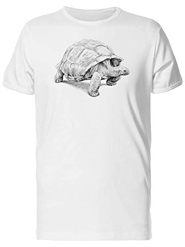 Land Galapagos Turtle Sketch Tee Men's -Image by Shutterstock from Teeblox