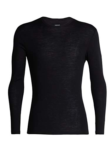 - Icebreaker Merino Men's Mens 175 Everyday Ls Crewe, Black, L