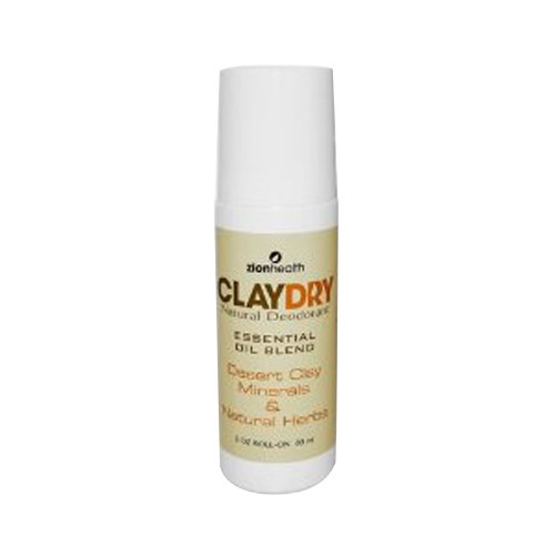 Zion Health Clay Dry Natural Deodorant, 3 Ounce
