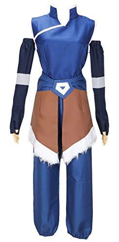 HonRmon Avatar The Legend of Korra Cosplay Costume Halloween Set (Custom Made) Blue]()