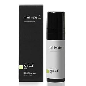 Minimalist 2% Retinoid Anti Aging Night Cream for Wrinkles & Fine Lines, 30 ml | Super Light Face Cream (Emulsion) for…