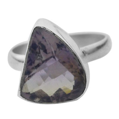 925 Sterling Silver Ametrine gemstone Ring Size 8 US 4.84g
