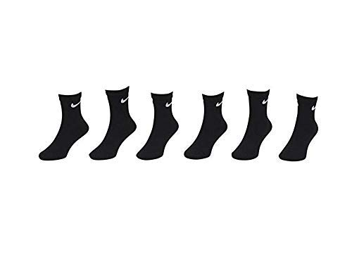NIKE Young Athletes Kids Crew Socks (6 Pairs),7C-10C Shoe/ 4-5 Sock,Black (Nike Socks Boys Black)