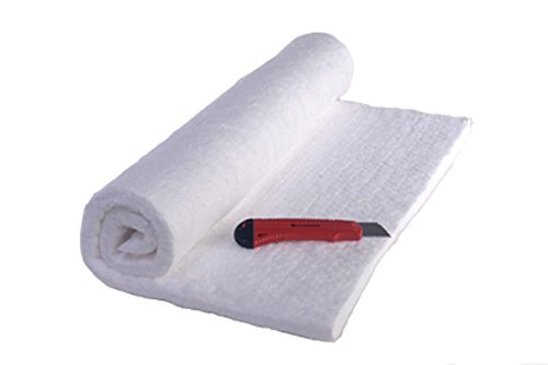 "1"" Ceramic Fiber Insulation Blanket 31"" X 24"" X 1"" 2400F Morgan Ceramics and CM-Ceramics Knife, Material Data Sheets, Safety Instructions, and Stove Plans. Product Bundle"