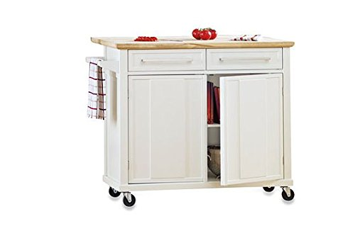 Real Simple Kitchen Island In White