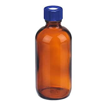 8d45ede16c6a I-Chem Brand S240-0120 Amber Glass 120mL 200 Series Type III Wide Mouth  Jar, with Septum, Short, Unprocessed (Case of 24)