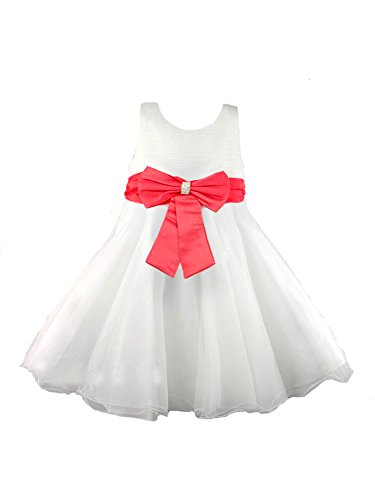Dress Bow Mk53 New Colore Avorio Bridesmaid Dress Coral Ael twqvHZH