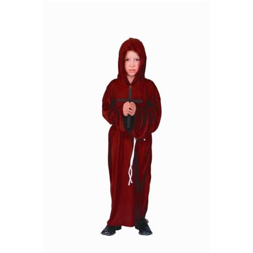 [Monk (Standard;Child Small)] (Brown Monk Robe Costume)