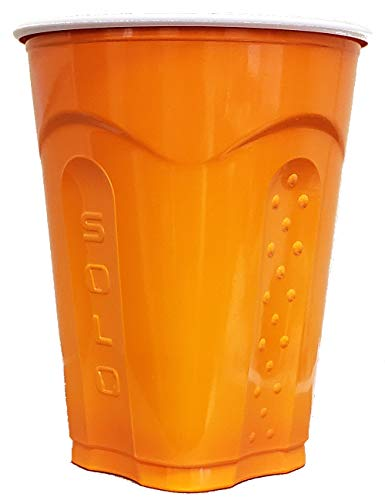 Solo Squared Cups, 18 Oz, Orange, 60